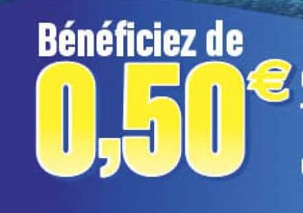 Promotion découverte: 0,50€ de réduction sur votre premier achat Cap Océan du 01/04/2016 au 31/07/2016