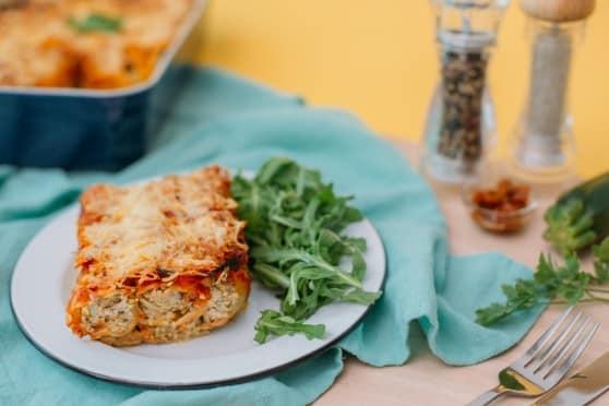 cannellonis prêt à poêler de thon, ricotta et courgettes